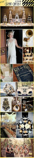 1920s great gatsby theme wedding board