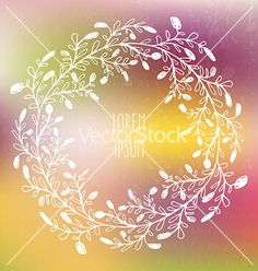 Frame on blured background vector  - by Favete on VectorStock®
