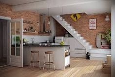 kitchen units under stairs - Google Search