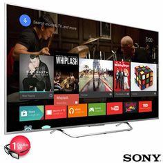 "Smart TV LED Sony 4K 55"" com Android TV e Wi-Fi"