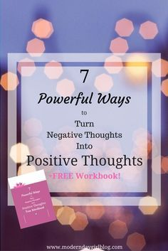 Positive thinking is a very powerful tool to help you, your anxiety and mental health. Learn more now + get your FREE workbook!