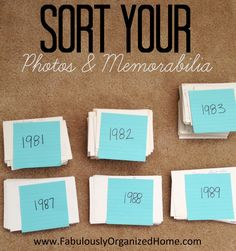 SORT AND DECLUTTER YOUR PHOTOS FabulouslyOrganizedHome.com