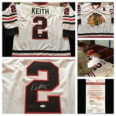 1e9853d45cf Duncan Keith Chicago Blackhawks Signed Autograph White Hockey Jersey 2 JSA  COA     You can find out more details at the link of the image.