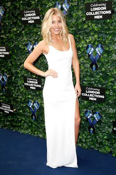 Mollie King wearing Ralph Lauren Black Label at the One For The Boys charity fashion ball - London Collections Men S/S16 | Harper's Bazaar