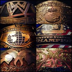 All WWE  Championship gold