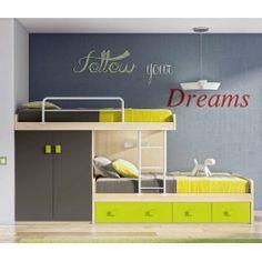 Dormitorios juveniles. Múltiples formas de aprovechar los espacios, buscándo lo mejor para ellos.