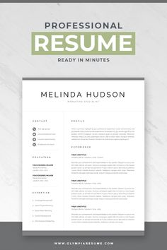 How To Layout A Resume Resume Template  Cv Template  Professional & Modern Résumé Cv .