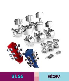 Parts & Accessories Acoustic Guitar Tuning Pegs String Semiclosed Tuning Pegs Tuners Machine Heads. #ebay #Lifestyle
