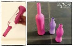 DIY- Reciclar Garrafas de Vinho - Garrafa Pink Rosé