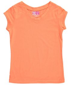 Every kid needs the classic look of this V-neck T from French Toast! Soft fabric blend, tagless neckline interior.    65% Polyester, 35% Cotton  Machine Wash Cold  Imported