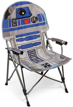 on #ThinkGeek - just saw it in my e-mail, this morn - I LOVE IT! I really want to give this to my bro for #Christmas - he's always hard to shop for, but....he loves #R2D2 & he's doing the new-ish house thing...maybe a cool deck/patio chair is just what he needs :D (I hope his fiance won't hate me...) ~ #geeks #starwars #toys #chairs #w00t