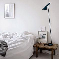 White bedroom styling | Mogensen bench | AJ Lamo
