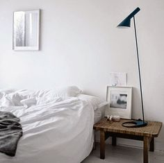 White bedroom styling | Mogensen bench | AJ Lamo