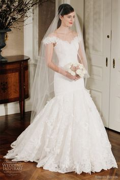 romona keveza 2012 legends bridal collection - portrait neckline wedding dress