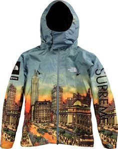 Cool city scape north face jacket