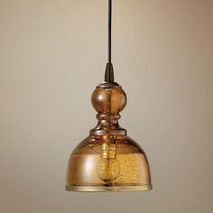 Jamie Young St Charles Amber Glass Pendant Chandelier