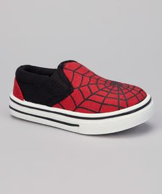 Cool kicks! With a slip-on silhouette and awesome spiderweb graphic, they're destined to become any stylin' guy's favorite playground partner. Canvas upperMan-made soleSpot cleanImported