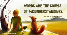 Little prince . The Little Prince Quotes . Little Prince Quotes, Little Prince Fox, Citation Saint Exupery, Fox Quotes, Qoutes, St Exupery, Somewhere Only We Know, Fanart, Lily Allen
