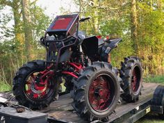 """Ricky P Walker, full armor off-road suspension lift,6"""" GDP portals,full armor floor boards, full armor rear rack, full armor front and rear upgraded drive shafts, 3p clutches, king cobra lvl1 in front, lvl 2s in rear, specialized atv billet diff, torque locker... Rjwc exhaust & turner and sycotic fab 22"""" 3 piece aluminum wheels wrapped in 40"""" bkts Can Am Atv, Off Road Suspension, Atv Four Wheelers, Quad Bike, King Cobra, Buggy, Moto Style, Trail Riding, Dirt Bikes"""