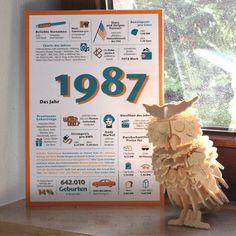 Bald werden alle 1987 Geborenen 30!! Geschenkidee oder Tischdecke