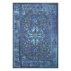 Features:  -Construction: Machine woven made.  -Material: 100% Nylon with latex backing.  -Style: Vintage.  -Primary color shades: powder blue,azure blue,navy blue and pear green..  -Indoor use: Yes.
