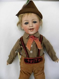 Gebruder Heubach Bisque Character Doll Laughing Child in