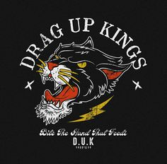Design for drag up kings Graphic Shirts, Graphic Art, Graphic Design, Badge Design, Logo Design, Tattoo Grafik, Design Kaos, Design Movements, Illustrations And Posters