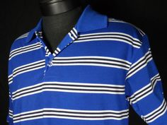 Bertigo Baresi Mens Polo Shirt Size XL Blue Striped Short Sleeve  #Shopping #EndingSoon #Blackfriday http://r.ebay.com/C1CCc6