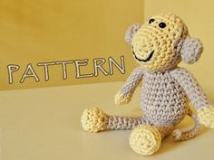 Crochet pattern amigurumi animal monkey PDF by ByMarika on Etsy