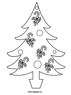 Visit the post for more. Cat Coloring Page, Free Coloring Pages, Xmas, Christmas Tree, Christmas Templates, Painting Patterns, Christmas Cookies, Diy, House