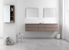 Mobile lavabo doppio / da parete / moderno STRATO.21 by Sergio Rochas Inbani