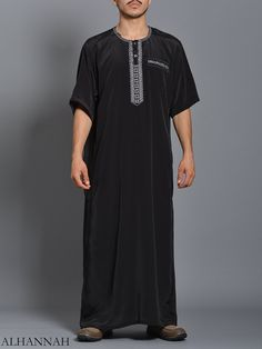 Moroccan Embroidered Thobe   me784