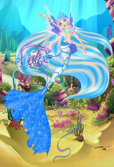 CP: Kamille Aquaria MT Mermaid Form by AshianaAquaris on DeviantArt Mythological Creatures, Fantasy Creatures, Mermaid Barbie, Mermaid Coloring, Kawaii, Merfolk, Sea World, Winx Club, Color Inspiration