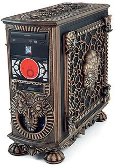 Steampunk computer http://www.psdeluxe.com/articles/inspiration/50-creative-custom-pc-case-designs/