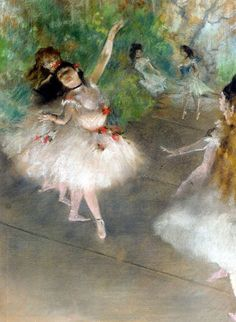 off Hand made oil painting reproduction of Dancers, one of the most famous paintings by Edgar Degas. Edgar Degas is known for his vast iconic collection of pieces about ballerinas and dancers. Edgar Degas, Degas Paintings, Pierre Auguste Renoir, Oil Painting Reproductions, Impressionist Art, Claude Monet, Op Art, Van Gogh, Painting & Drawing