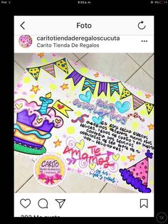 Carteles Salvia Divinorum, School Notebooks, Weird Gifts, Ideas Para Fiestas, Happy Day, Special Gifts, Paper Art, Hand Lettering, Projects To Try