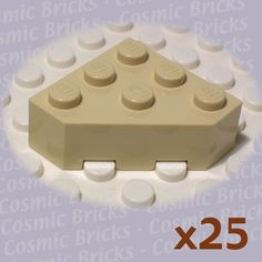 10 LEGO 2X2 DOT YELLOW BRICKS PARTS B397