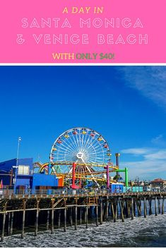 This itinerary will show you how to see the best of Venice Beach and Santa Monica in one day! Great for a quick day trip, or if you are on a budget. via OC Girl Beach Vacation Tips, Cheap Beach Vacations, Best Island Vacation, Beach Trip, Dream Vacations, Santa Monica, Voyage Philippines, Philippines Travel, Where Is Bora Bora