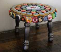 bottle cap stool- Ty would love this... I'll start collecting!