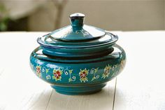 Handcrafted turquoise porcelain utensil holder or kitchen storage jar , ¥2625 JPY, Diameter: 220 mm Height: 120mm , Material: Clay, Origin: Tehran, Designer: Masoud Yeganeh, Description: ?, Beckyson | A unique world of hand made, organic, beautiful fashion, accessories and homeware. Shop our carefully edited collection of inspiring pieces, brought to you from around the globe. Visit www.beckyson.co