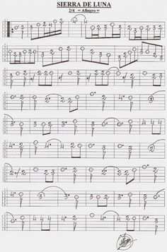 13 Ideas De Bandurria Partituras Tablaturas Guitarra Punteo Guitarra