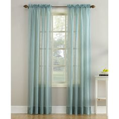 """Lichtenberg No. 918 Crushed Sheer Voile 51\"""" x 84\"""" Window Panel ($7.99) ❤ liked on Polyvore featuring home, home decor, window treatments, curtains, mineral, contemporary sheer curtains, sheer window coverings, voile curtains, sheer voile curtains and sheer curtains"""