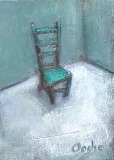 Angela Ooghe's Painting Blog: Lonely Chair ACEO