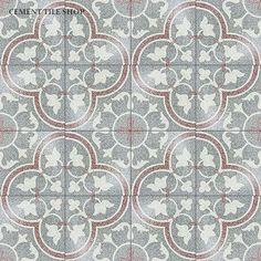 Cement Tile Shop - Encaustic Cement Tile Bouquet V Terrazzo