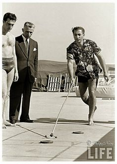 Mohamed Reza Pahlavi At Miami Beach 1955..............http://www.pinterest.com/madamepiggymick/arab-royalty-iran/