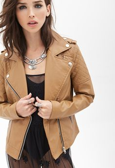 Quilted Faux Leather Jacket | Forever 21 - 2000122863