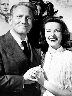 Spencer Tracy and Katharine Hepburn.