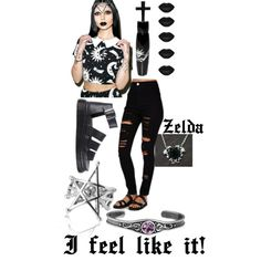 Um....yeh a lot of black by zelda-kahtan on Polyvore featuring polyvore, fashion, style, Kill Star, Missguided, Dr. Martens, Gisele Ganne and Manic Panic
