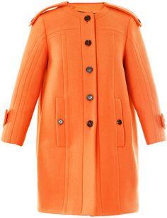 BURBERRY PRORSUM Wool Collarless Coat     dressmesweetiedarling