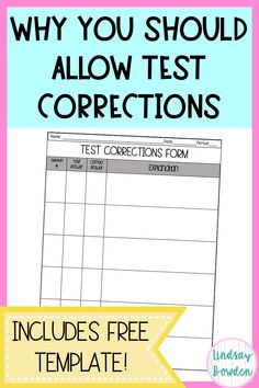 How to Use Test Corrections in the Classroom - Lindsay Bowden Science Classroom, Teaching Science, School Classroom, Student Learning, Classroom Ideas, Spanish Classroom, Science Experiments, Flipped Classroom, Classroom Projects
